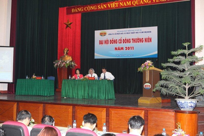 Công ty cổ phần Đầu tư phát triển nhà và đô thị HUD6 tổ chức Đại hội đồng cổ đông thường niên 2011