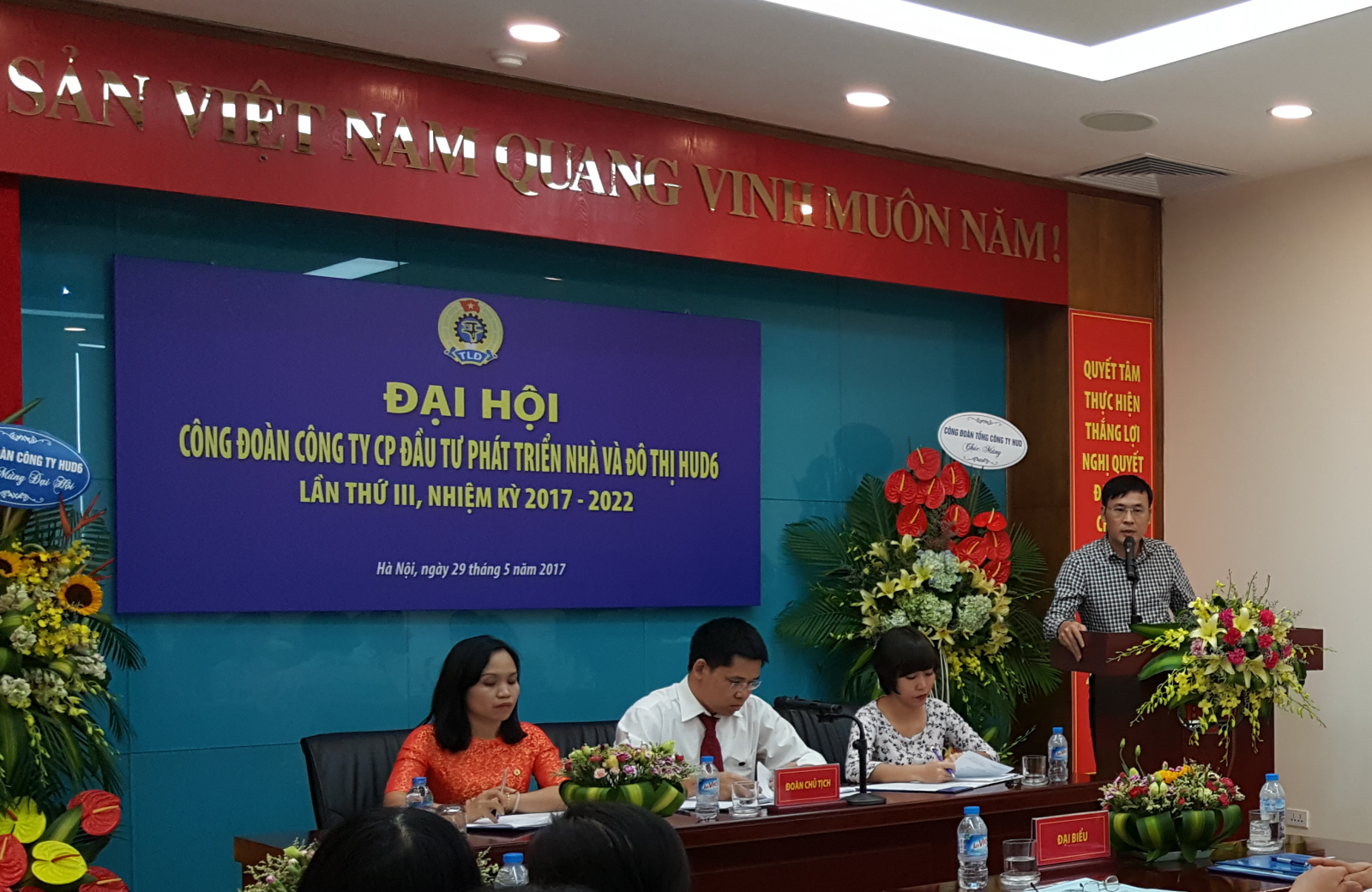 Đại hội công đoàn công ty HUD6 lần thứ III, nhiệm kỳ 2017-2022